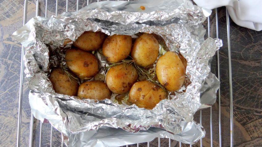 BBQ aardappels met rozemarijn en knoflook