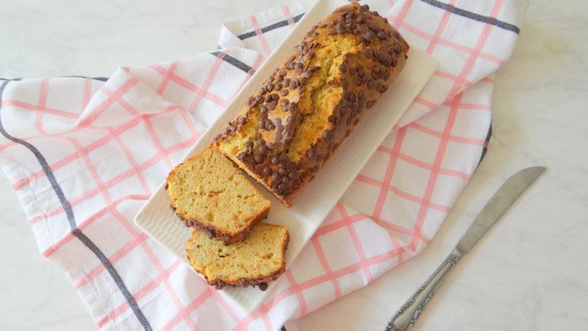 Courgette cake met banaan