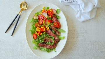 Mexicaanse steaksalade met tomatensalsa