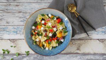 Pasta salade met ratatouille