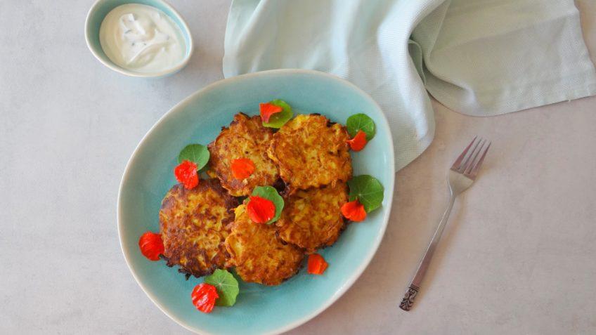 Courgette en maïs pannenkoekjes