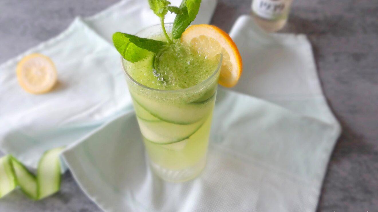 Komkommer citroen mocktail