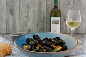 Mosselen met Italiaanse witte wijn