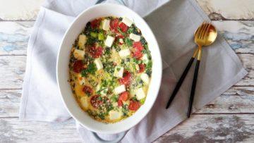 Sucuk en spinazie frittata uit de oven