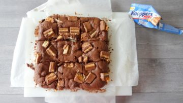 Brownies met Knoppers nutbar