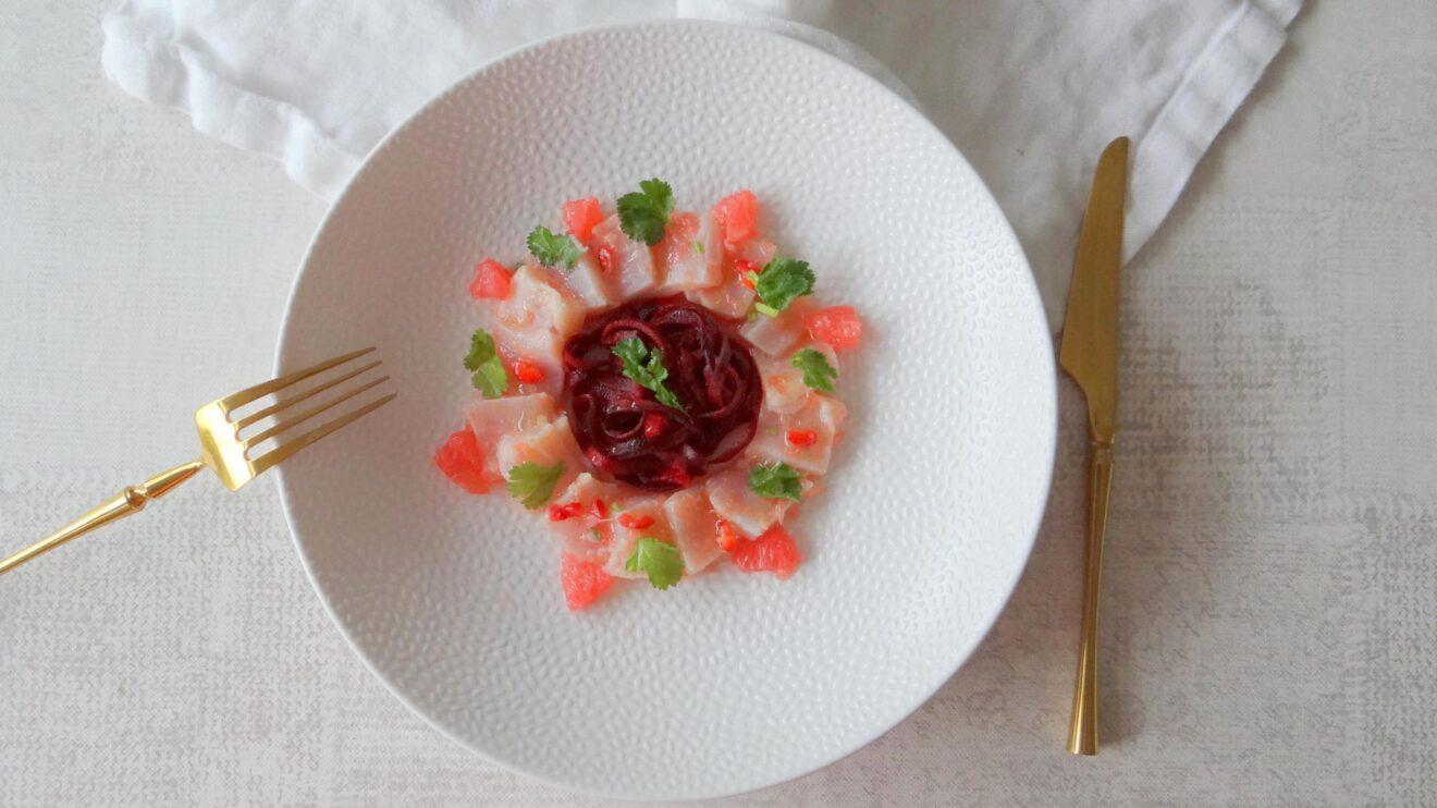 Ceviche van tonijn met grapefruit