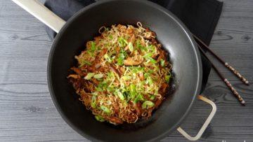 Chinese mie met shiitake