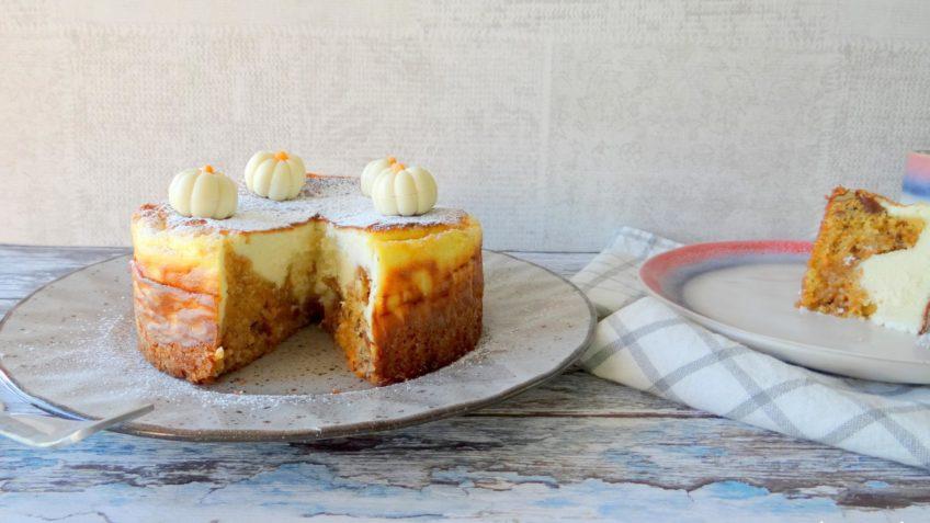 Pompoentaart en cheesecake