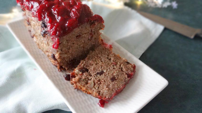 Feestelijk gehaktbrood met cranberries