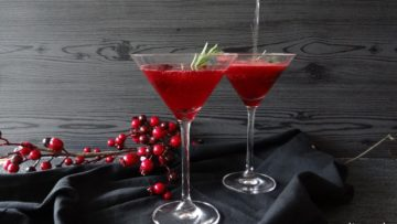 Feestelijke bramen Prosecco cocktail
