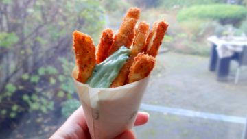 Halloumi frietjes met wasabi mayonaise