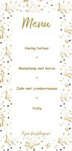 Vier Kerstmenu ideeën