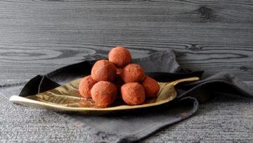 Witte chocolade kastanje truffels