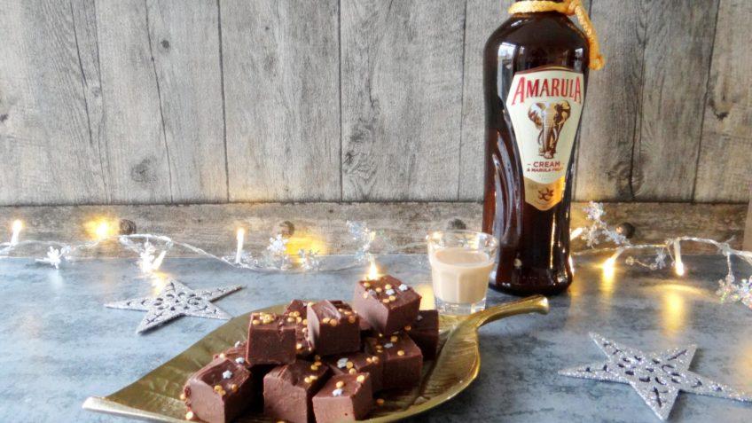 Chocolade fudge met Amarula