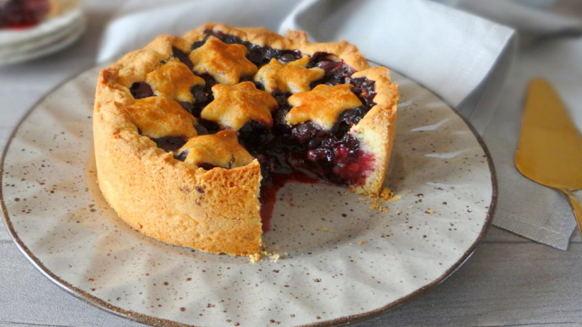 Amerikaanse Blueberry Pie