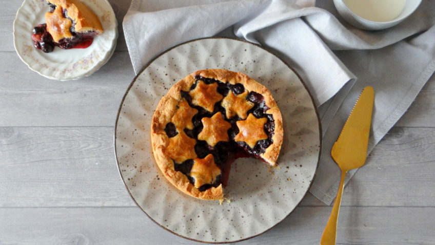 Amerikaanse Blueberry Pie