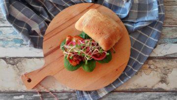 Broodje sweet & sticky kipdijfilet