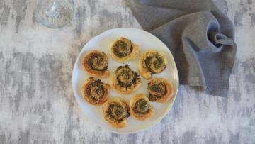 Pesto en kaas bladerdeeg spiraal