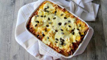 Regenboog lasagne met 5 soorten kaas