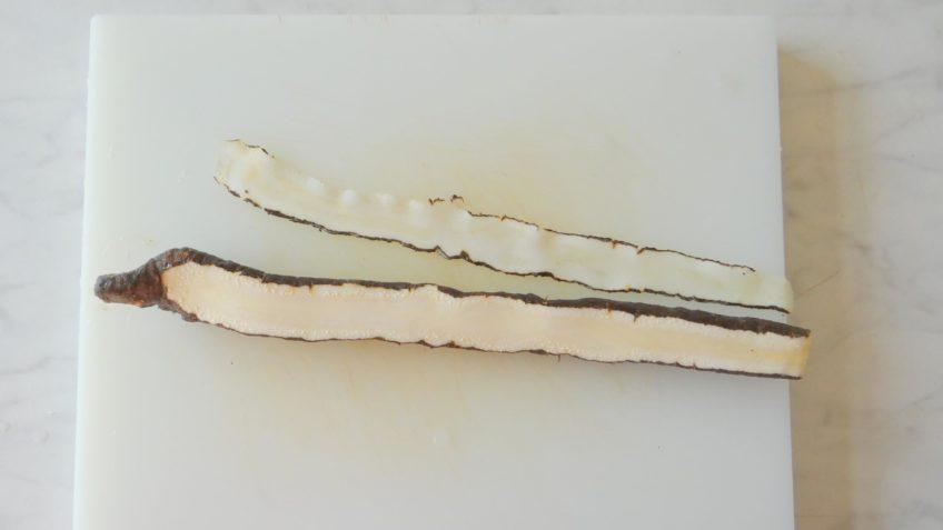 Schorseneer tagliatelle met garnalen