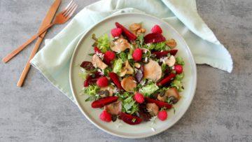 Bietjes salade met oesterzwammen