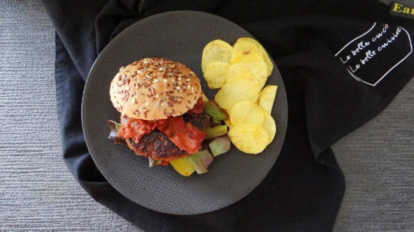 Hamburgers met een koffierub