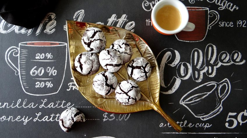 Craquelé chocolade fudge koekjes