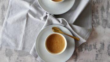 Dalgona koffie panna cotta