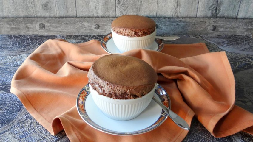 Goddelijke chocolade soufflé