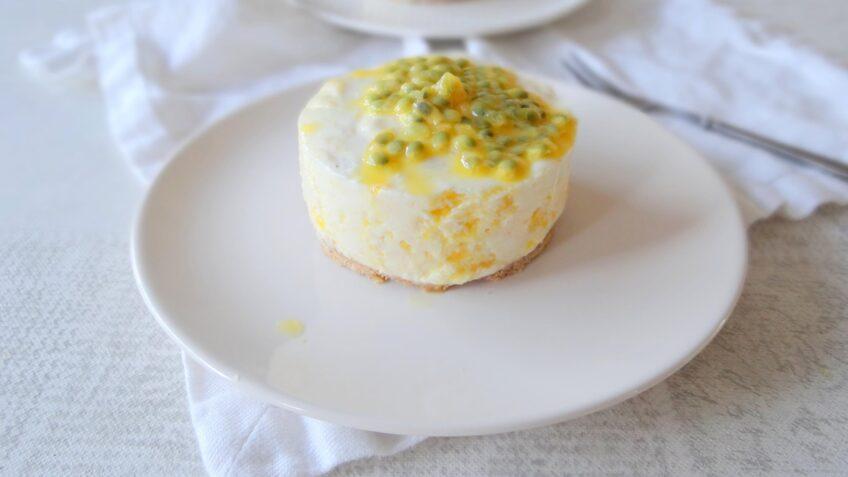 Ontbijttaartje van kwark met mango
