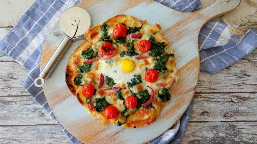 Platbrood Shakshuka pizza