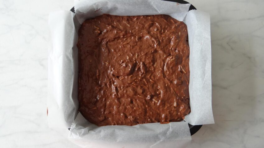 Chocolade courgette cake