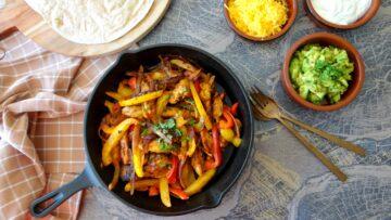 Fajita's met kip en paprika