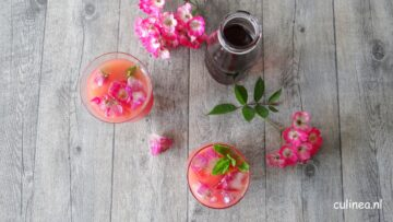 Grapefruit en hibiscus cocktail