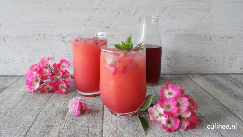 Grapefruit en hibiscus cocktail