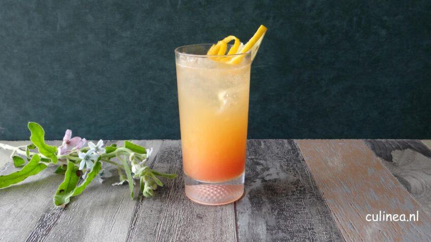 Citrus mocktail met passievruchtsiroop