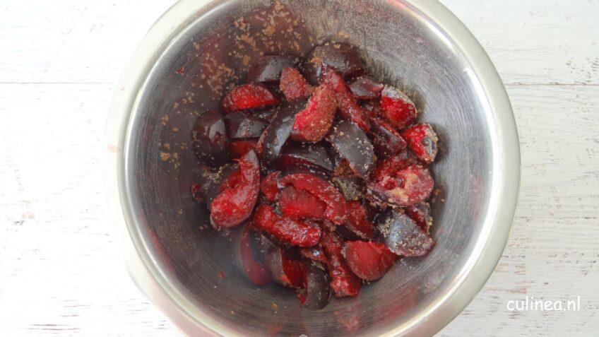 Galette van rode pruimen