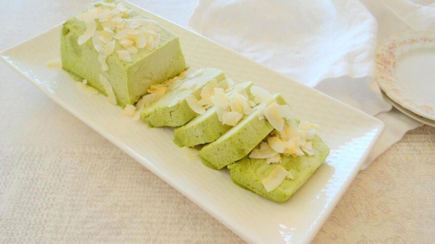Matcha kokos parfait ijs