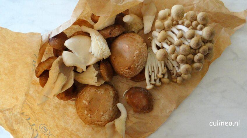Stamppot knolselderij met paddenstoelen