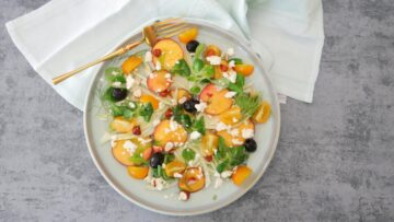Venkelsalade met nectarines en feta