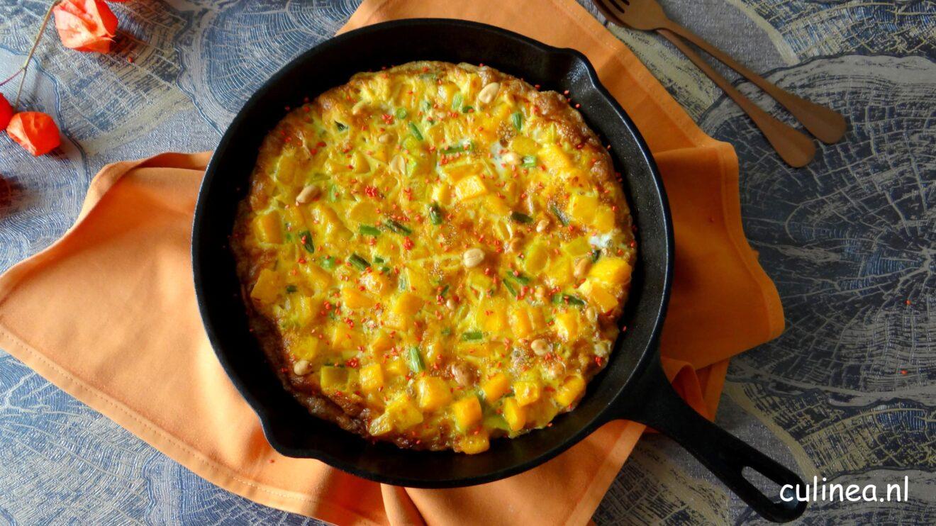 Aziatische pompoen omelet