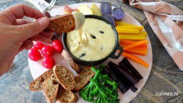Fondue met drie soorten kaas