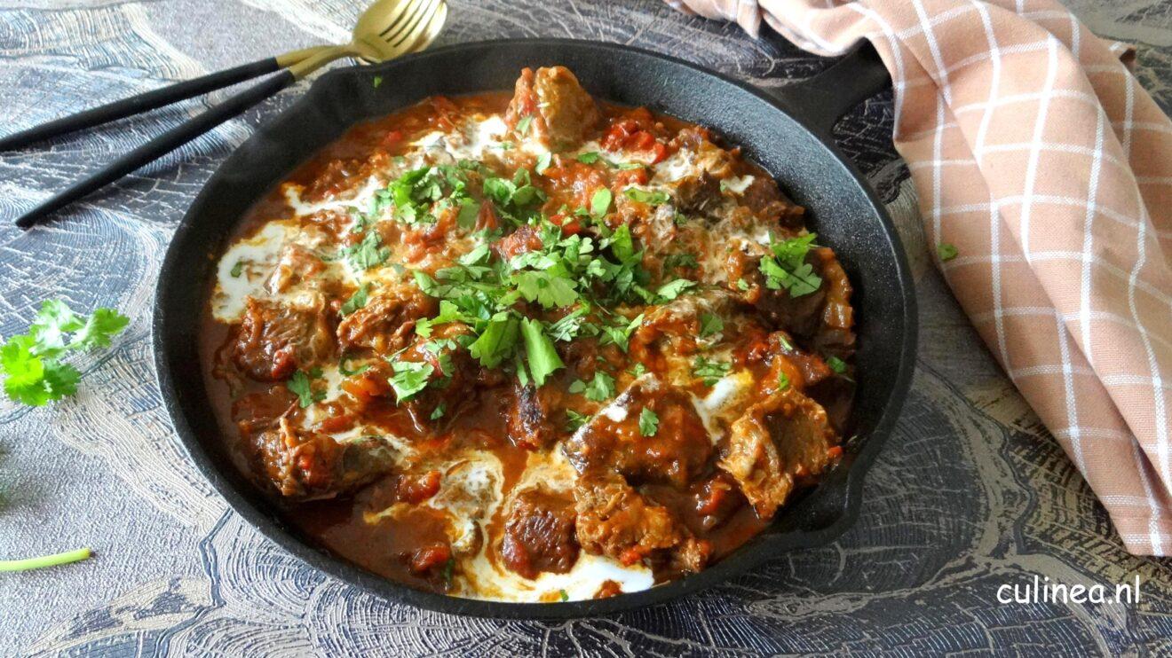 k heb al een Kip Madras op de site staan en nu heb ik deze heerlijke Madras rundvlees curry gemaakt
