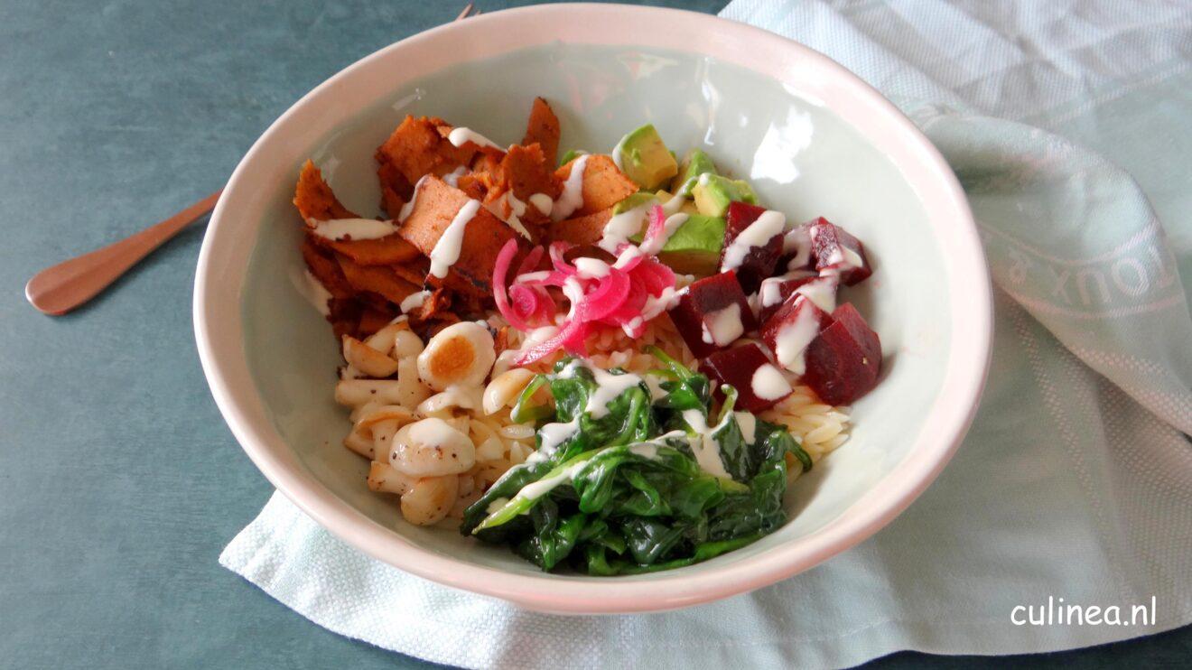 Vegetarische shoarma bowl