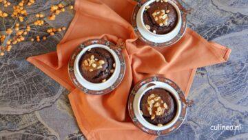 Chocolade cakejes met karamel