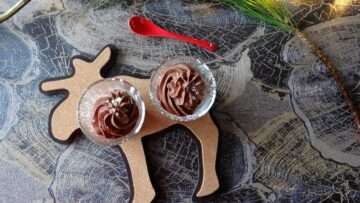 Zijdezacht chocolade dessert
