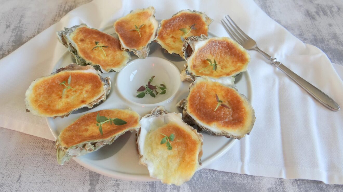 Oesters met Champagne sabayon