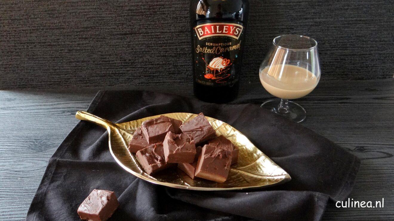 Baileys salted caramel chocolade fudge