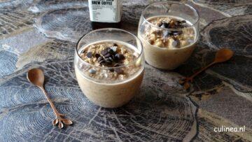 Overnight oats van koffie