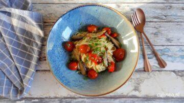 Spaghetti tomaatjes en sardientjes